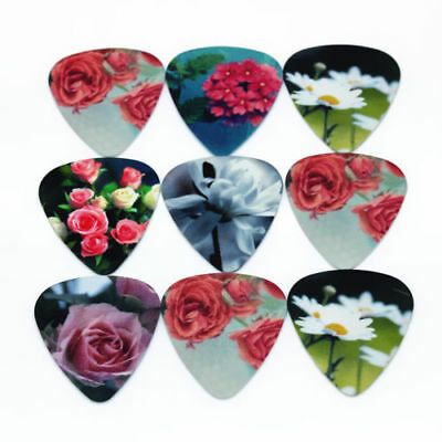 Garden Flower Home Blooming Guitar Picks Lot of 10 .46 mm Free Track Thin New
