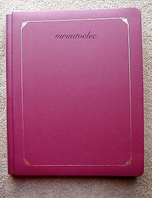 Creative Memories 11x14 Burgundy Album with Gold Foil Border and 15 White pages
