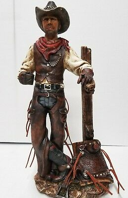 Country Western Cowboy Statue Decoration