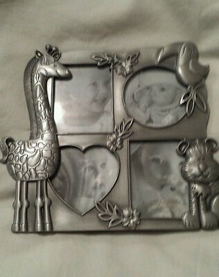 Baby Picture Frame Jungle - collage holds 4 pictures