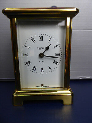 French Bayard Duverdrey And Bloquel 8 Day Carriage Clock