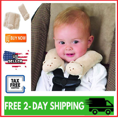 Baby Car Seat Shoulder Pads Infant Belt Strap Cover Pillow Soft Safety 2 PACK