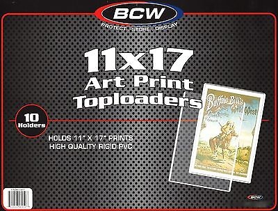 BCW 11X17 Art Print Toploaders Top Load Holders 1 Pack of 10