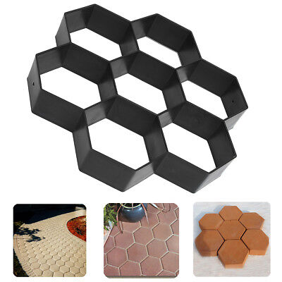 Driveway Paving Pavement Patio Mold Concrete Stone Step Walk Maker DIY Mould