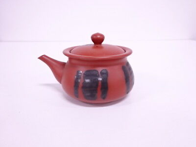 3677185: Japanese Tea Ceremony / Tokoname Ware Handleless Tea Pot / Red Clay / A