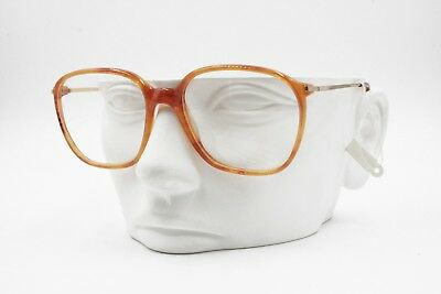 Lozza Oxford squared frame brown veined with golden metal arm, New Old Stock 70s
