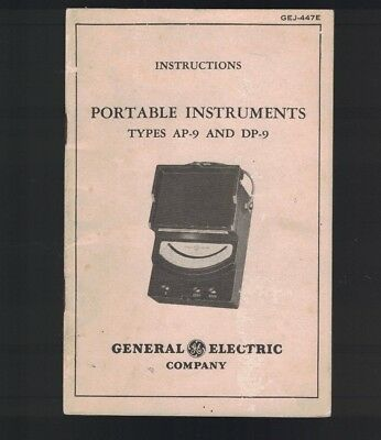 General Electric Instructions Portable Instruments Types AP-9 & DP-9