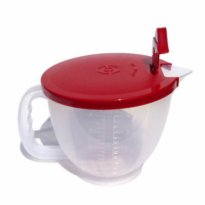 Tupperware NEW Classic Style Small Mix n Pour Stor Measuring Jug 1 litre Red