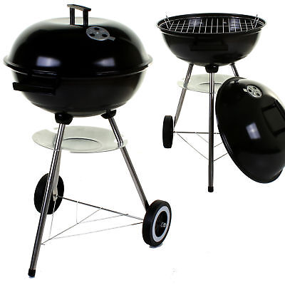 Large Kettle Bbq Barbecue Steel Grill Outdoor Charcoal Patio Portable 17""