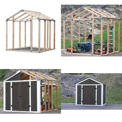 INSTANT SHED STORAGE Framing Kit Do It Yourself Yard Equipment ...