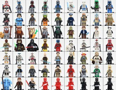 Star Wars Luke Skywalker Han Solo Yoda minifigures Fit Lego bricks Building Toys