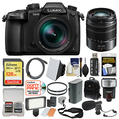 Panasonic Lumix DC-GH5 Wi-Fi 4K HD Digital Camera & 12-60mm + 45-150mm Lens Kit