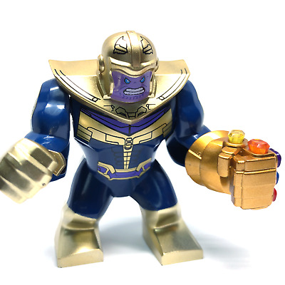 Marvel Avengers 3 Infinity War Thanos + Infinity Gaunlet Infinity Gems Fit Lego
