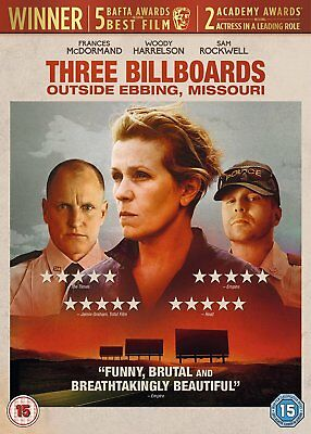 Three billboards outside Ebbing ,Missouri DVD. New and sealed.