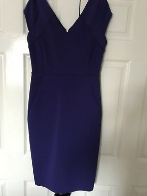 c407f4aae59 WOMEN S DOROTHY PERKINS size 6 purple frill bodycon dress -  1.31 ...