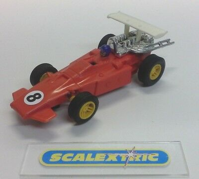 SCALEXTRIC Tri-ang Vintage C23 SCALETTI ARROW Slot Car RED #8 (LOVELY) T1