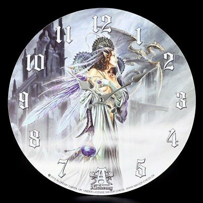 Wall Clock Fantasy - Bride of the Moon - Alchemy Pixie Decoration Watch Gift