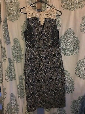 ad781ce8caa8e ANTHROPOLOGIE BASIL & MAUDE 100% Silk Embroidered Easy-to-Wear Dress ...