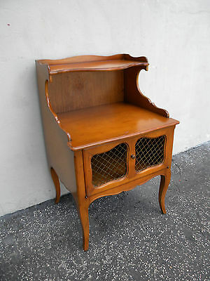 French Cherry Nightstand Side End Lamp Table 5676