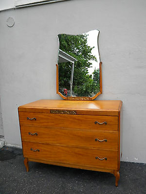 French 1930's Mahogany Dresser with Mirror by Northern Furniture 3585
