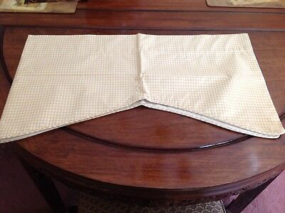 COUNTRY CURTAINS Yellow Gingham Scalloped Valances