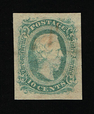 GENUINE CONFEDERATE CSA SCOTT #11d MINT OG GREEN DIE-A ARCHER & DALY PRINTING