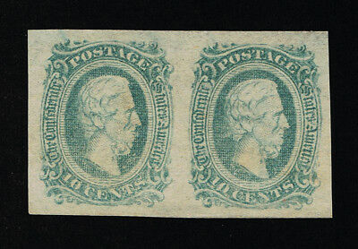 GENUINE CONFEDERATE CSA SCOTT #11d PAIR MINT OG GREEN DIE-A ARCHER DALY PRINTING