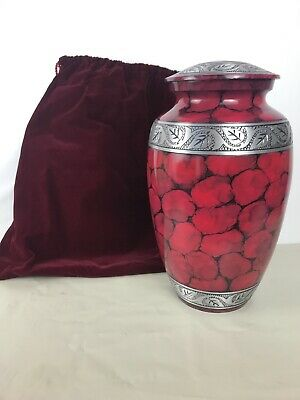 Perfect Memorials Large RED  Dream Cremation Urn Human Ashes.