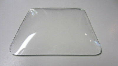 Vintage Square Convex Glass Clock Face Lens / Cover, 3 3/4 in. x 3 3/4 in.