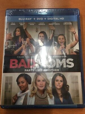 Bad Moms (Blu-ray/DVD, 2016) NEW FREE SHIPPING!!