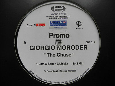 "2 x 12"" DE**GIORGIO MORODER - THE CHASE (JAM & SPOON / OAKENFOLD REMIXES)**24717"