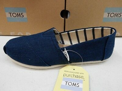 8c13a3cd916bf TOMS WOMENS SHOES Classic Majolica Blue Heritage Canvas Size 7.5 ...