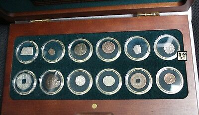 12 Religions of The Ancient World - 12 Silver & Bronze Coin Collection Set(OOAK)