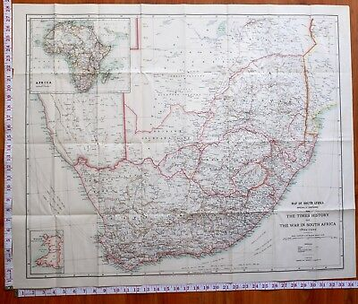 Boer War Era Map/battle Plan Map Of South Africa 1899-1902 Troop Positions