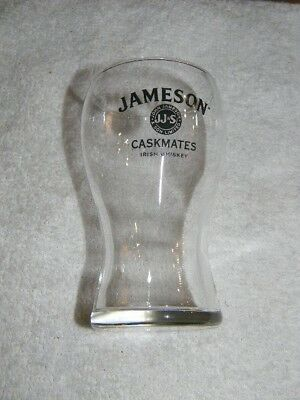 Jameson Caskmates Irish Whiskey short glass-  logo on front-JJ&S Limited- HTF