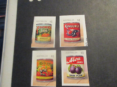 No--1--2018 -Vintage  Jam  Labels  --P/s    F/s  4  Stamps  --Mint