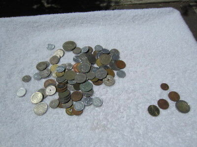 Lot of 100 assorted world foreign coins mixed bulk + 5 Euro coins # 2
