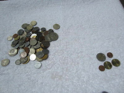 Lot of 100 assorted world foreign coins mixed bulk + 5 Euro coins # 3