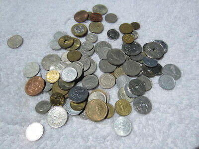 Lot of 100 assorted world foreign coins mixed bulk # 9