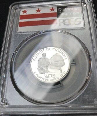 2009 S District of Columbia PCGS Proof 69 DCAM 90% Silver Quarter (Flag Label)