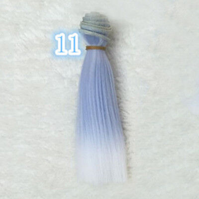 DIY BJD SD Straight Doll Wigs Synthetic Hair For Dolls 15cm Girls A&