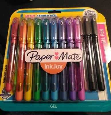 Paper Mate Inkjoy Gel *NEW CAPPED* Pen 20-Pack Assorted Colors Medium 0.7mm