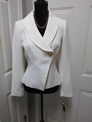 Alex Marie Short Ivory Linen Jacket/Blazer Size 4 Brand New With Tags