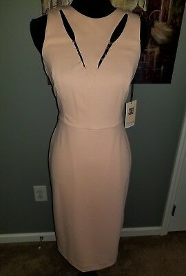 b397393a Ivanka Trump Women's Midi Sheath Dress! NWT Size 10 Ballet Rose beading  cutouts!