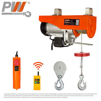 Prowinch Wireless Electric Rope Hoist 2200 lbs. capacity - 120V