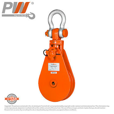 Prowinch 8 Ton Snatch Block Swivel Clevis Shackle wire rope pulley