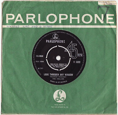 THE HOLLIES - LOOK THROUGH ANY WINDOW  Very rare 1965 UK POP Single Release!