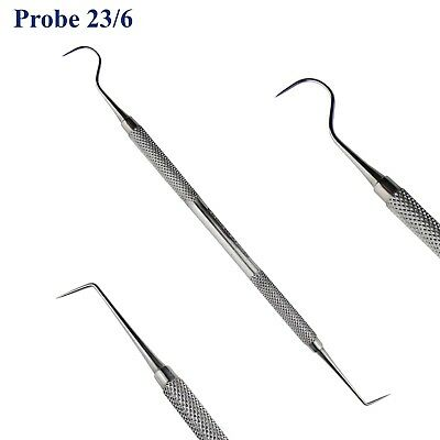 Dental Examination Probe 6/23 Explorers Endodontic Cleaning Double Ended Tool TK