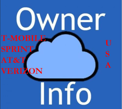 Apple icloud owners info By IMEI - SOLD By USA AT&T  ONLY [1-72HRS ]