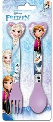 Disney Frozen Anna & Elsa Kids Spoon & Fork Cutlery Set . Zak Designs